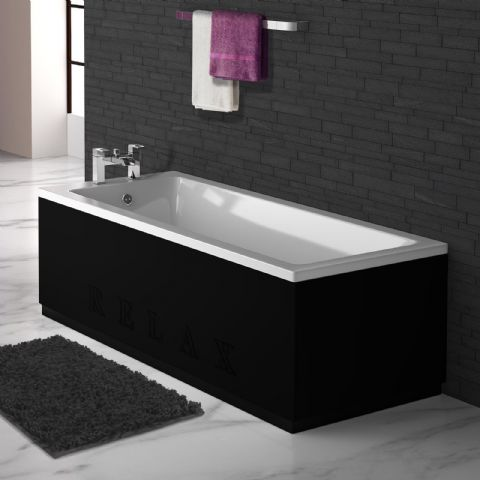 Black Engraved 2 Piece adjustable Bath Panels